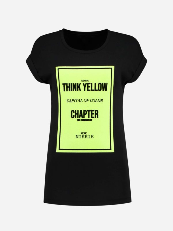 Nikkie T-shirt yellow