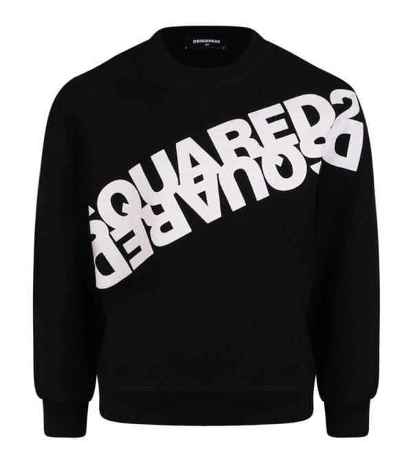 Dsquared2 sweater schuin logo