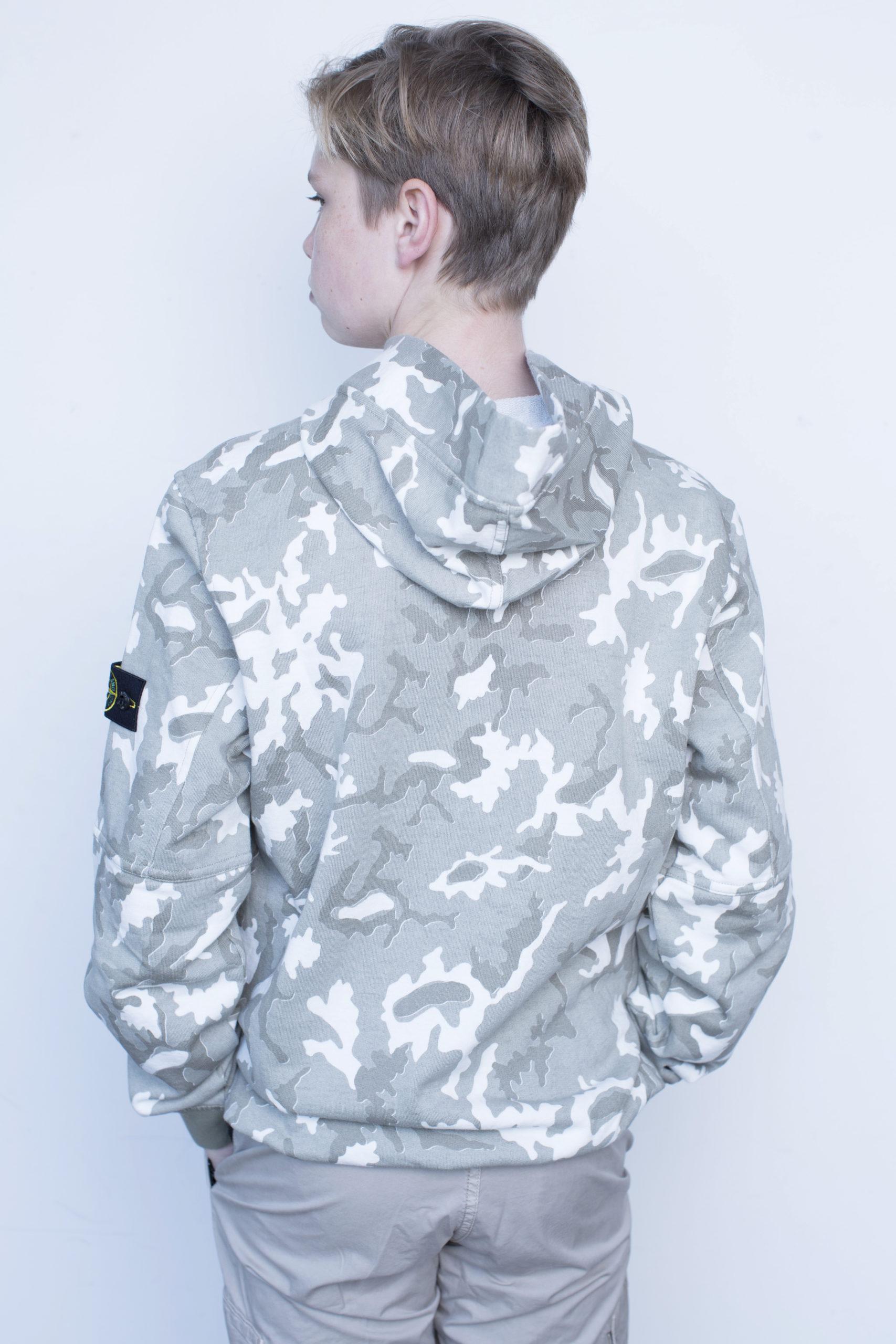 Stone Island army hoodie