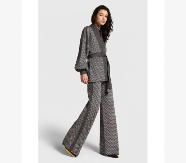Alix the Label Wede Leg Jacquard Pants