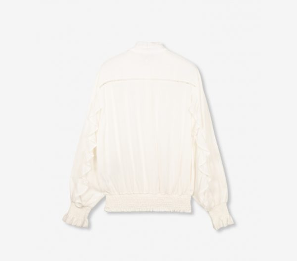 Alix the label blouse with tapes and ruffles