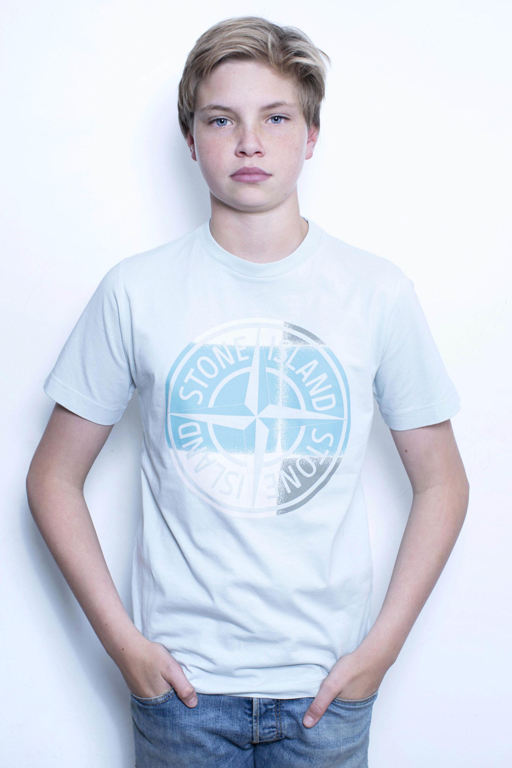 Stone Island T-Shirt Lichtblauw