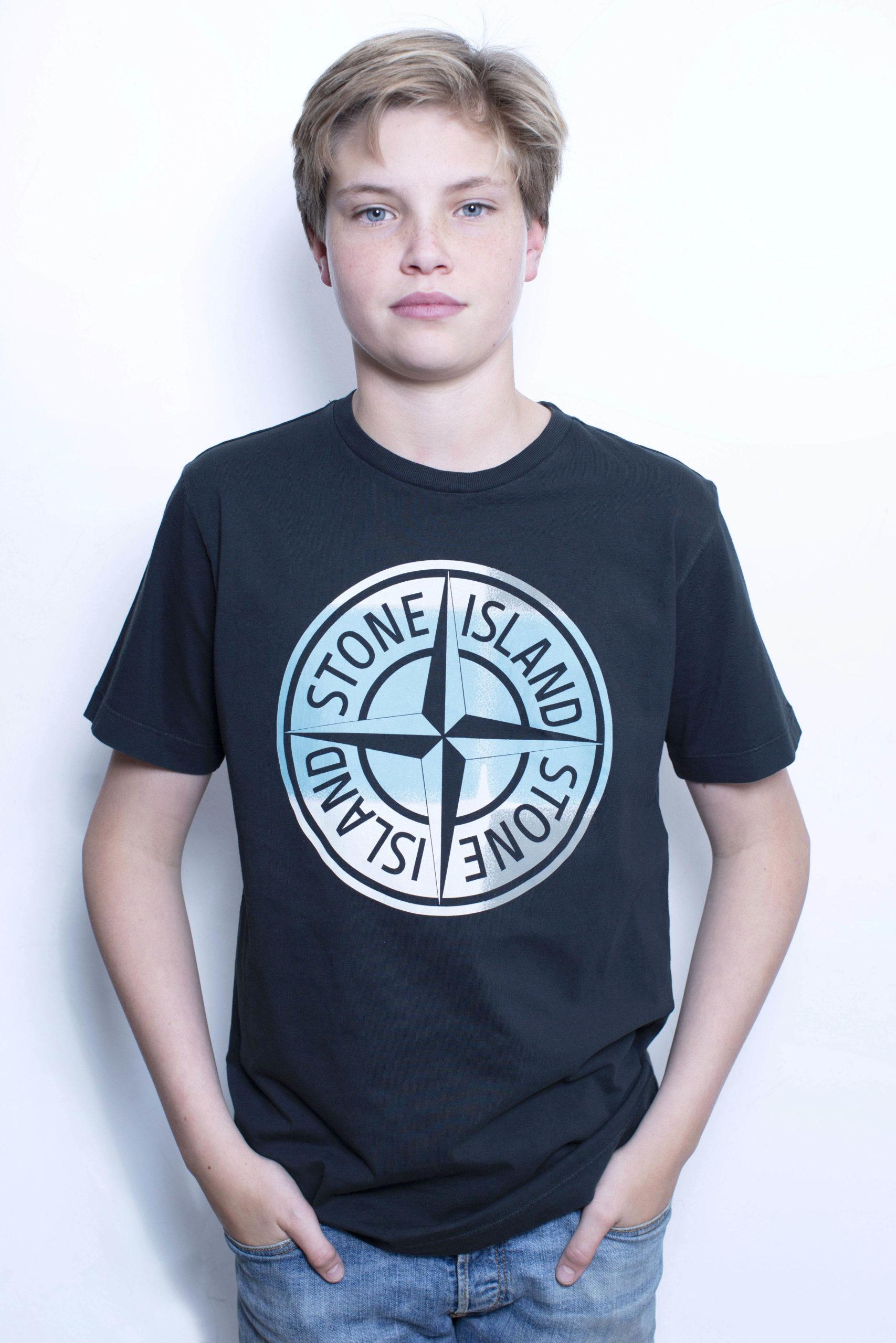 Stone Island T-Shirt Zwart