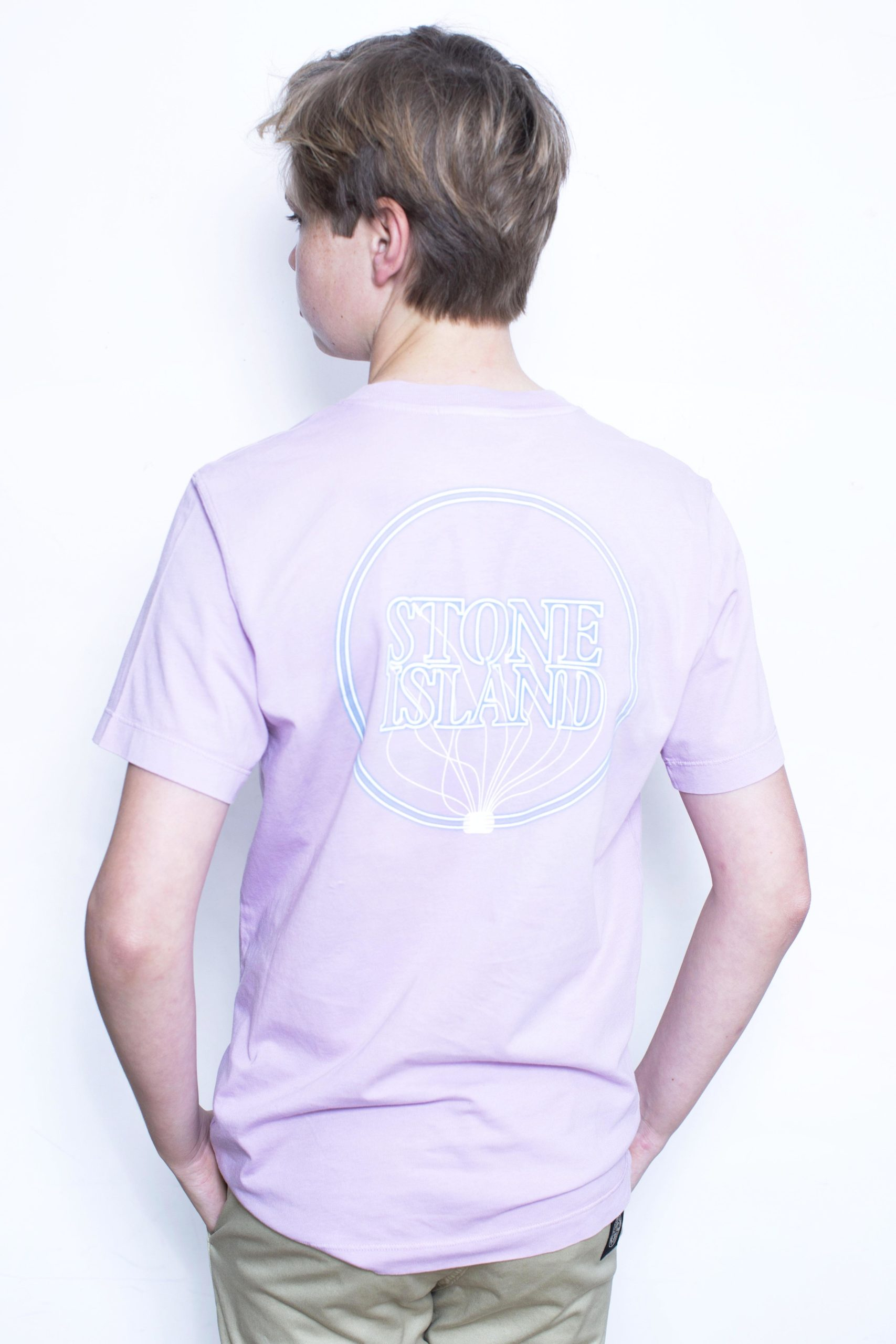 Stone Island T-Shirt Roze/Lila