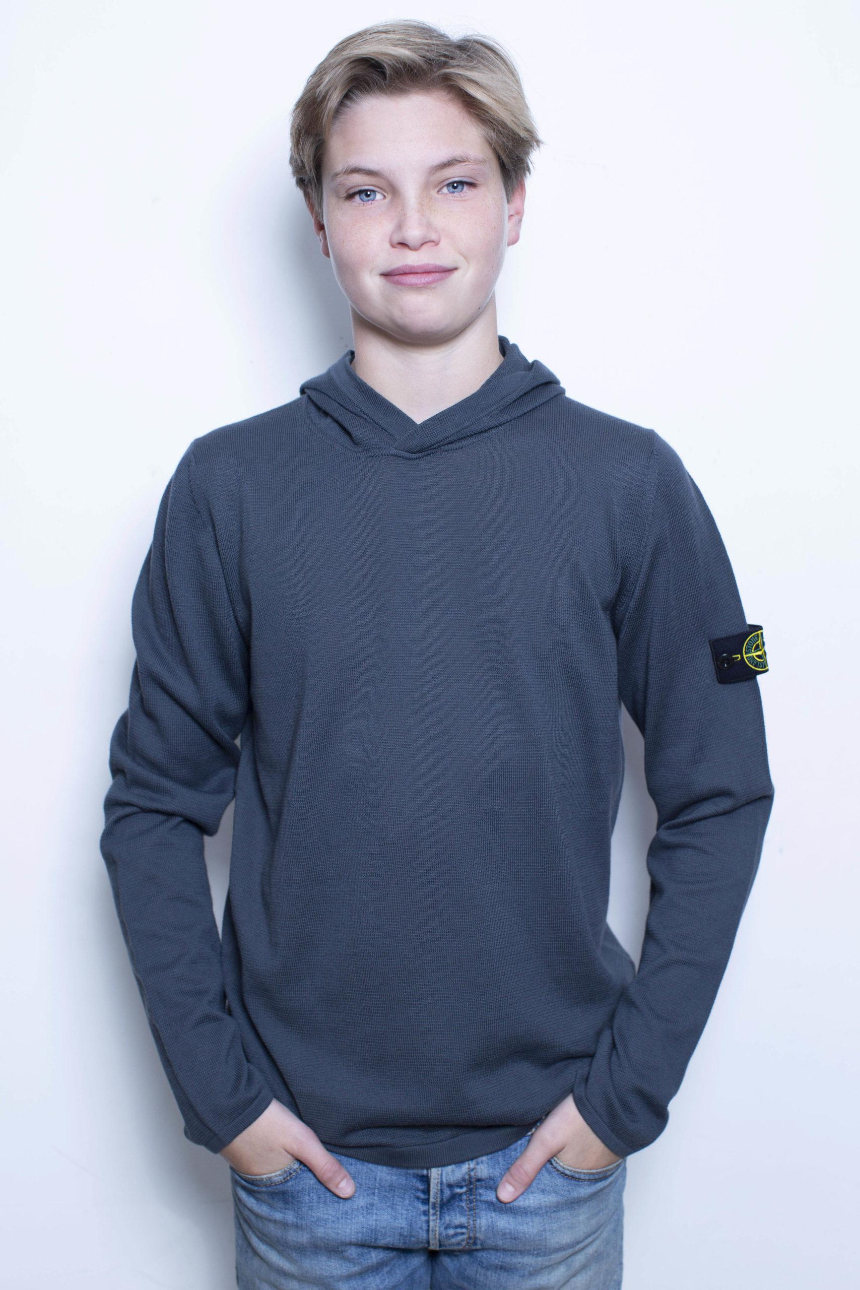 Stone Island knitwear hoodie antraciet