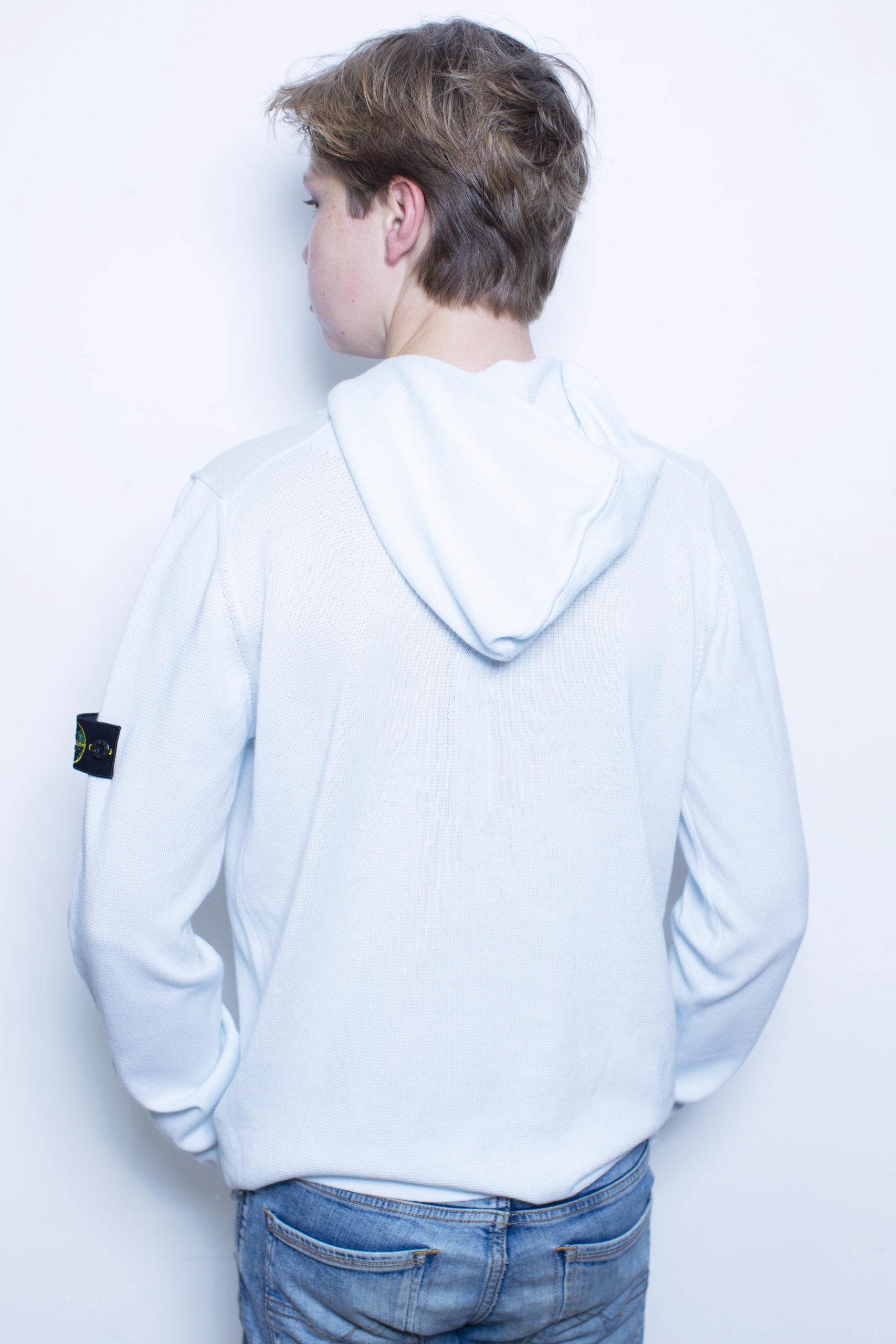 Stone Island knitwear hoodie lichtblauw