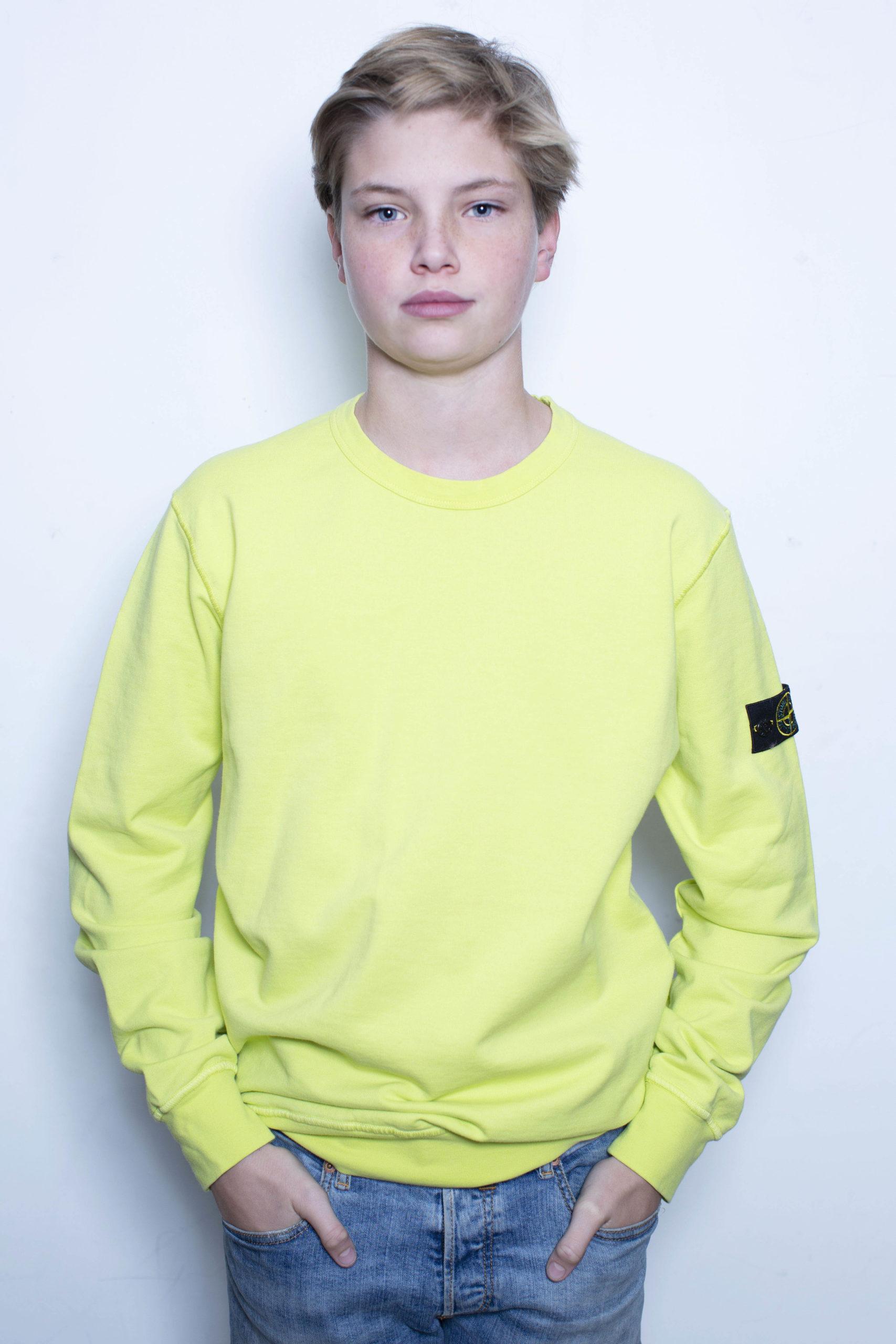 Stone Island sweater lime