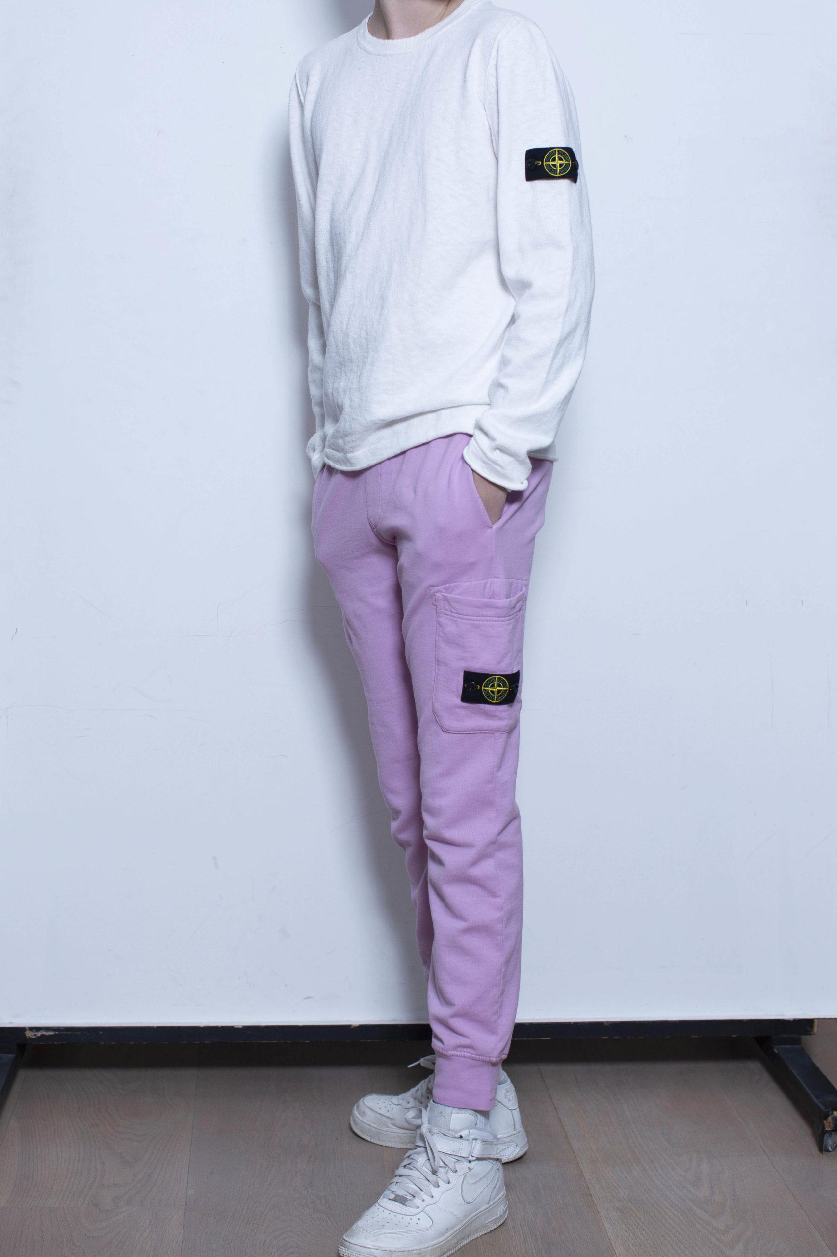 Stone Island joggingbroek roze/lila